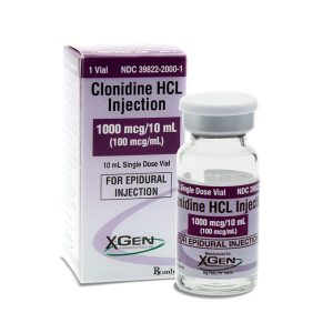 Clonidine Hydrochloride Injection (1000 mcg/10mL Vial)